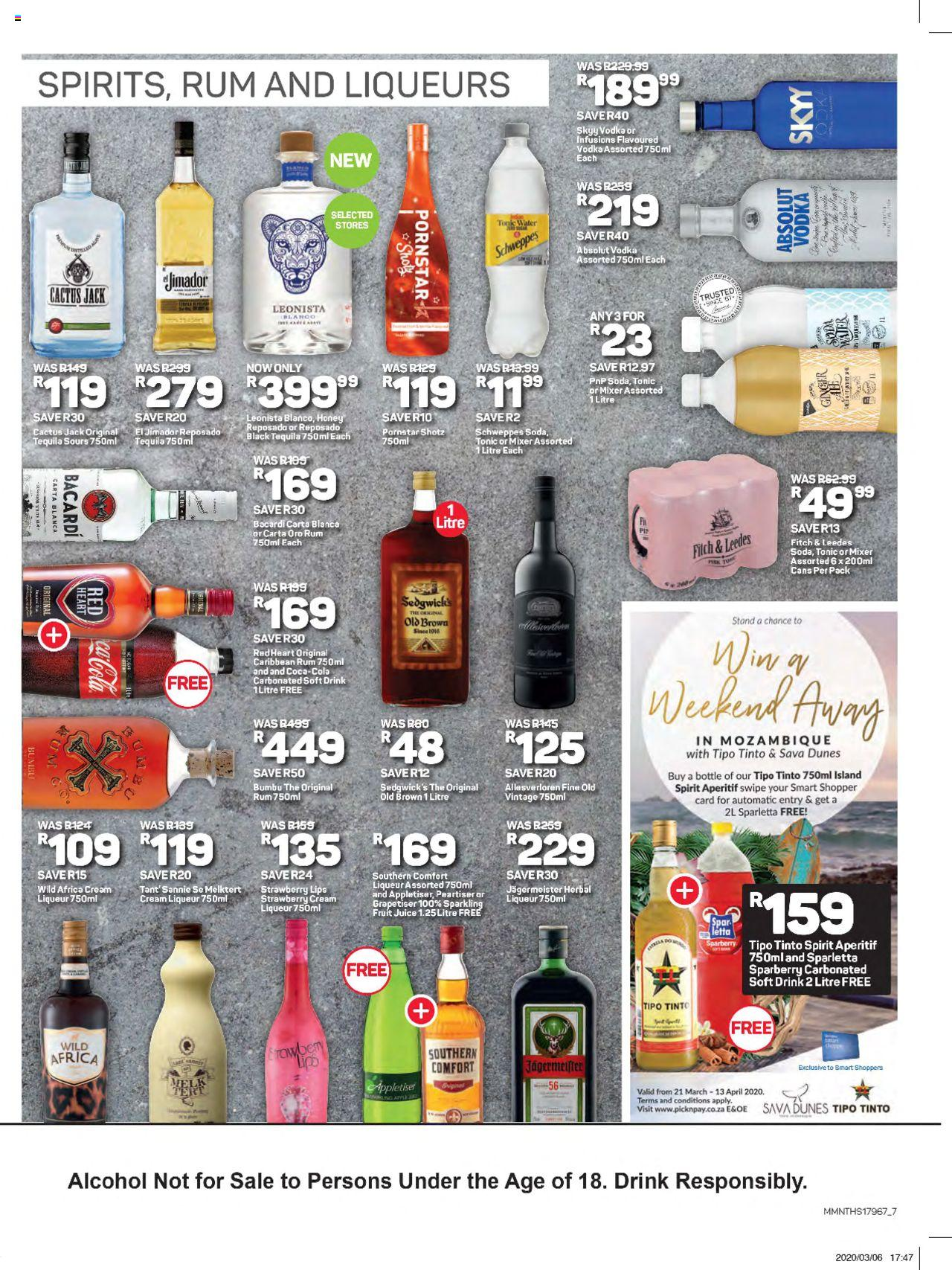 pick n pay  great savings liquor specials » promotions 23